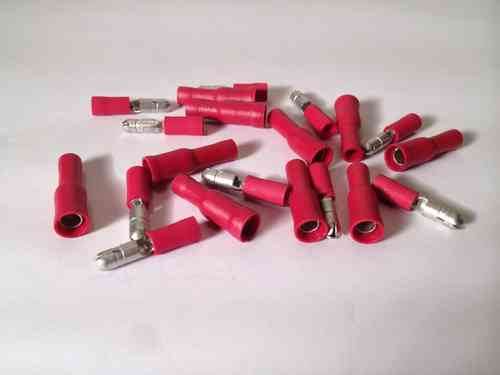 Red Bullet Terminals 4mm