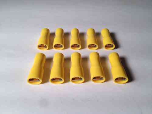 Yellow Spade Terminals 6.3mm
