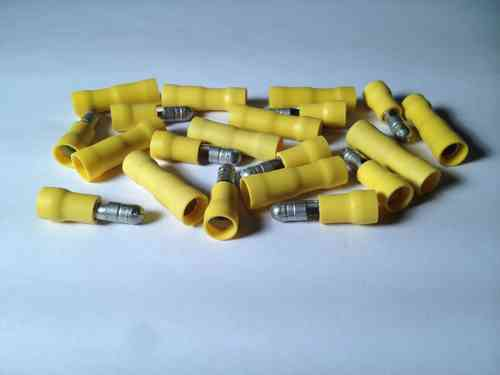 Yellow Bullet Terminals 5mm
