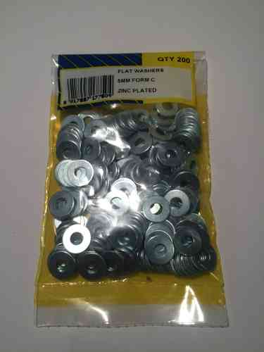 5mm Heavy Duty Washers (Pk 200)