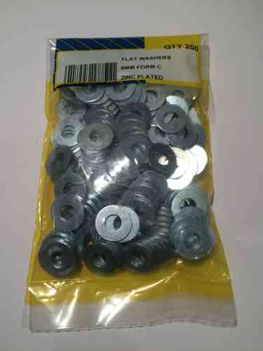 6mm Heavy Duty Washers (Pk 200)
